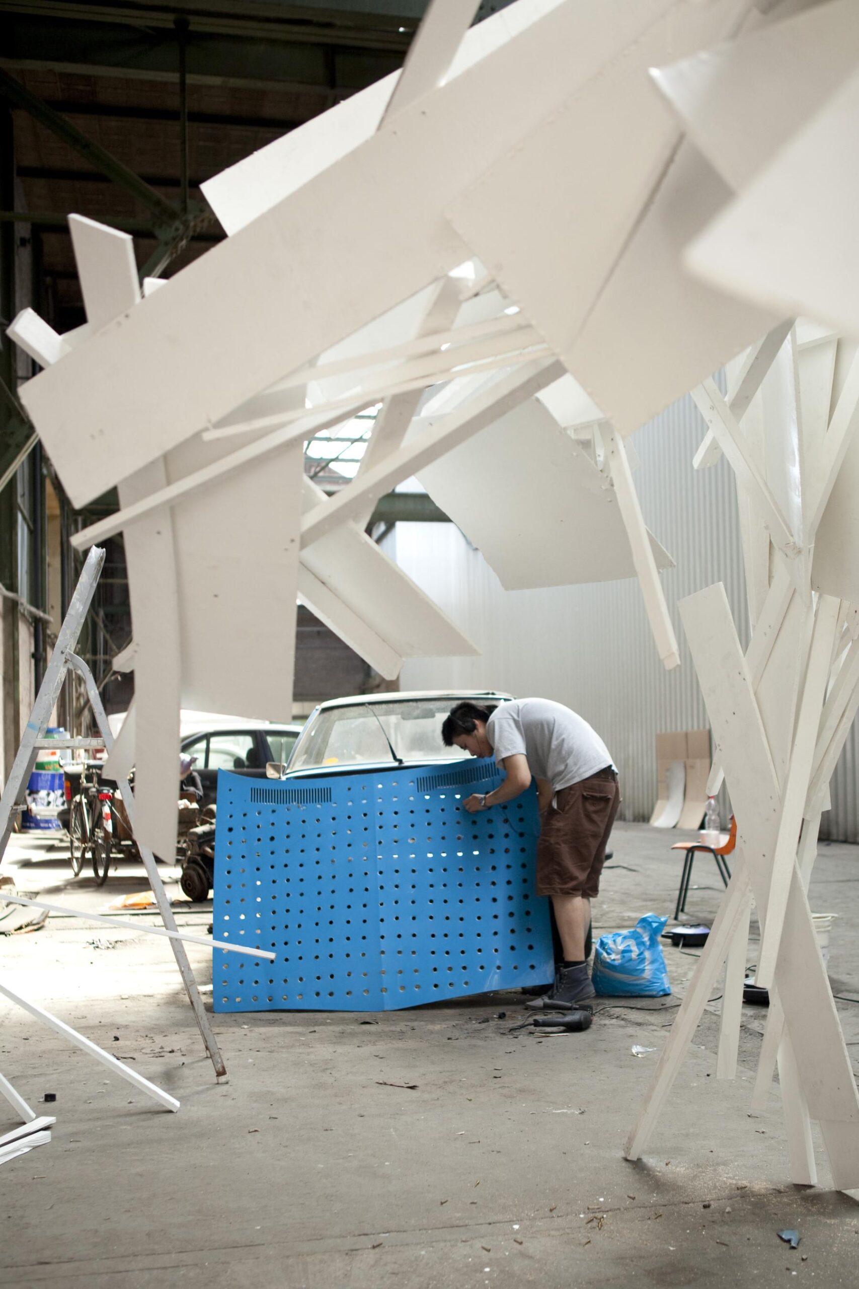 Artist in residence van id11 voor CAR ART2012